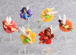 Wholesale Tinkerbell Toy Doll - New Arrival 6 Pcs set Tinkerbell Princess PVC Action Figure Cute Model Toy Dolls 8cm Children Gift
