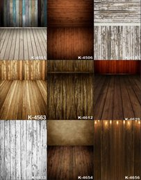 Wholesale Computer Backdrops Photos - 5X8FT Retro Stage Wooden Floor Art Baby Props Vinyl Backdrop Background For Photo Studio Computer Printed Photography Backgrounds Backdrops