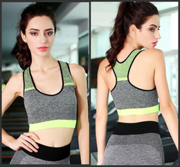 709f6cda14665 High Quality Women Quick Drying cotton Comfortable Bra Neon Color Top Vest  Underwear Fitness Exercise Padded Sport Bra Top Tank H178