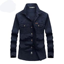 927b4b44a826b estilo militar camisas de manga longa Desconto Primavera Camisas Masculinas  de Algodão Camisas Dos Homens Casuais