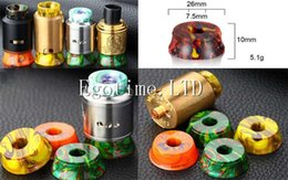 Wholesale Metal Exhibition Stands - Resin Base RDA RBA Tank Clearomizer Atomizer Stand Resin 510 Thread 810 Metal Holder TFV8 Exhibition Display for Vape Mod Drip Tip E cig