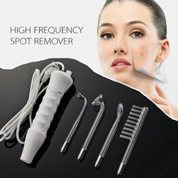 Wholesale Radio Frequency Body Treatment - 2pcsNew Portable Massager High Frequency Machine Acne Treatment Skin Spot Skin Facial Spa Salon Care Machine Beauty(no retail box)