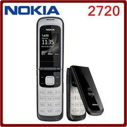 Wholesale Cheap Inches Phones - Original Unlocked Nokia 2720 Refurbished 1.8 Inch 2MP Camera GSM 2G JAVA Support Russian keyboard cheap Flip Mobile phone