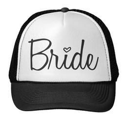 Wholesale Hats For Women Drops Shipping - Wholesale- Bride Letters Print Baseball Cap Trucker Hat For Women Men Unisex Mesh Adjustable Size Drop Ship M-152
