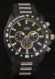 Wholesale Mens Large Dial Watch - 2017 INVICTA NEW Large Dial Luxury Mens Quartz Watch Sports Watch 6 Colors hot Brazilian Watches Large Inventory