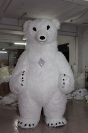 Wholesale polar bear costume adult - Free Shipping Newest Polar Bear Inflatable Costume For Advertising 2.6M Tall Customize For Adult Suitable For 1.6m To 1.8m Adult