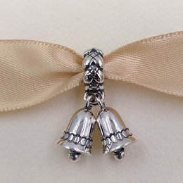 Wholesale Pandora Silver Bells - Christmas Day 925 Sterling Silver Beads Christmas Bells Dangle Charm Fits European Pandora Style Jewelry Bracelets & Necklace 791230
