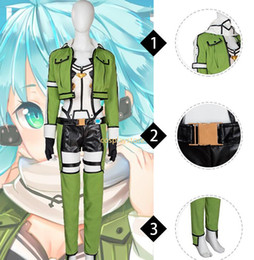 Wholesale Carnival Costumes Online - New Movie Character Sword Art Online Sinon Cosplay Costume Halloween Carnival Costume For Women