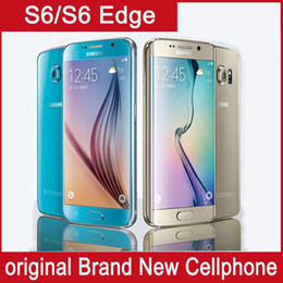 Wholesale S6 Android Phone - Original Samsung Galaxy S6 Edge +  s6 edge Octa Core 3GB RAM 32GB ROM LTE 16MP 5.1 Unlock Phone