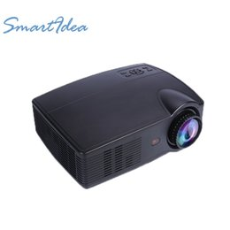 Wholesale free home theater - Wholesale- Smartidea LED 4000Lumens 3D Projector Video game TV beamer Android WIFI home theater Proyectur With Free HDMI cable 3D Glasses