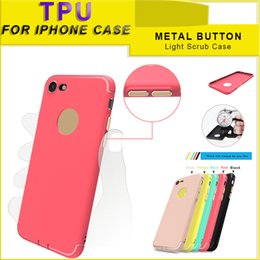 Wholesale Scrub Phone Covers - For iphone7  6s Scrub Phone Case Protective Cover Solid Color TPU Soft Colorful Case with Opp Package