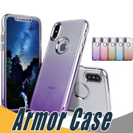 Wholesale Wholesale Clear Color Case - For iPhone X 8 Case Transparent Silione Gradient Color Environmental Protection PP Material Luxury Protector Phone Shell Case