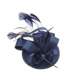 Wholesale Satin Church Hats - Free Shipping Hot Sale black Bird cage Net Wedding Bridal Fascinator Hats Face Veil Feather black Flower for party accessory