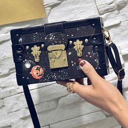 Wholesale Mini Lock Box - 2016 new Box originality. Packet. Lock. Small leisure bag. Lady bag. Creative shoulder bag.Cross Body.Hard pack
