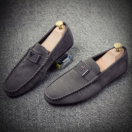 Wholesale England Shoes For Men - Men Driving Shoes 2017 New Luxury Brand Mens Shoes England Trend Casual Leisure Shoes Breathable For Male Footear Loafers Men's Flats