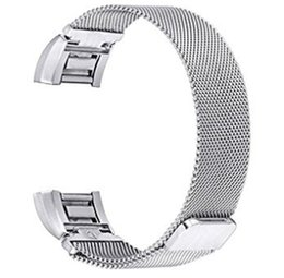 Wholesale Wholesalers Only For Watches - Siliver color only Milanese Loop Band For Fitbit charge 2 smart bracelet Magnetic stainless steel strap for charge 2 band 100PCS LOT