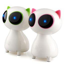 Wholesale Cat Portable Speakers - Free Shipping Hot Selling Mini Desktop Multimedia Q9 Cartoon Cute Cat Bluetooth Speaker Hifi Subwoofer Audio Loudspeaker