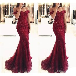 Wholesale Shining Mermaid - Shining Off Shoulder Long Evening Dress New Arraived 2017 Beaded Crystal Prom Party Dresses Sexy Sweetheart Mermaid Occasion Dresses
