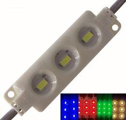 Пластиковый модуль онлайн-Супер яркий впрыска ABS пластик 5630 SMD светодиодные модули 3Leds/1.5 Вт высокой люмен светодиодные подсветки строка белый/теплый белый красный синий водонепроницаемый MYY
