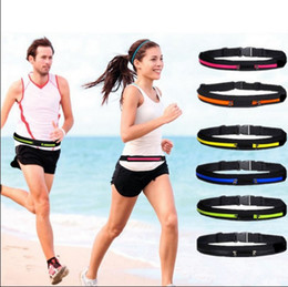 Wholesale Waterproof Waist Bags For Camping - Waterproof reflective running belts phone holder bag mini pockets anti-theft personal invisible casual waist belt pocket for iphone