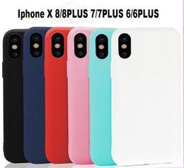 Wholesale Iphone Colours - Matte Plastic TPU Cell Phone Cases Soft Candy Colour Shockproof Bumper Case For Iphone X 8 8plus 7 7plus 5 5s 6 6s Plus