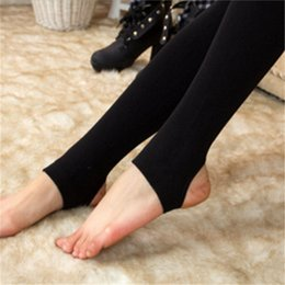Wholesale Thick Tights For Women - Wholesale- Winter Women Warmer Tights Women Thick Pantyhose Stockings Velvet Solid Slim Pants for Women Stockings w29