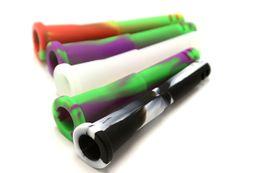2019 diferentes tipos de metales Tubos de downstems de silicio colorido con 4 cortes de 105mm de longitud de downstem de silicona para agua de vidrio Bongs de silicona Bongs tuberías de agua