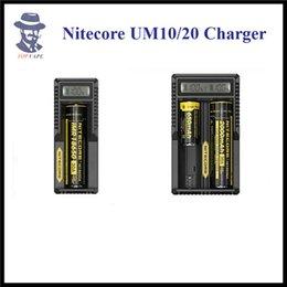 Wholesale Electronic Cigarettes Displaying - 100% Original Nitecore UM10 UM20 Charger LCD Display Digicharger Electronic Cigarette Fitting 18650 18350 18500 14500 Lithium Battery