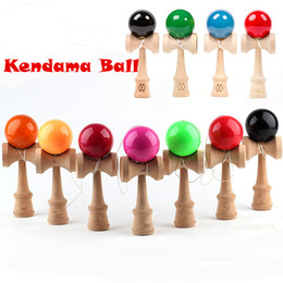 Wholesale Japanese Wholesale Kendama - 18.5cm Kendama Ball Toy Shine Smooth PU painting beech Wooden Japanese Traditional Funny Sword ball Game Education Toy Christmas gift