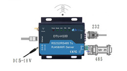 Wholesale Rs232 Serial Interface - Wholesale- F18903 WIFI Serial Server RS232 RS485 to RJ45&WIFI Server wifi converter RS232 RS485 Ethernet Interface DTU HF-H100