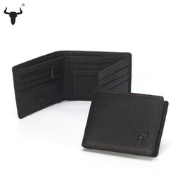 Wholesale Leather Slim Wallet Women - Wholesale- Mini Wallets Small Thin Purse 100% Real Slim Male Genuine Leather Wallet For Men Women Purses Zipper Coin Bags Card Holder