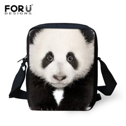Wholesale Panda Shoulder Bag Black - Wholesale- Famous Brand 3D Animal Print Messenger Bags Panda Horse Crossbody Bags for Men Casual Boys Small Shoulder Bags Men's Travel Bag