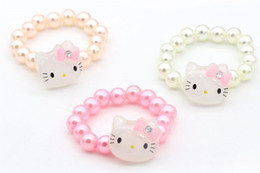 Wholesale Cheap Baby Girl Jewelry - Pretty Baby children jewelry bracelet for girls gifts kid for girl Round Beads Colorful bracelet set Cheap