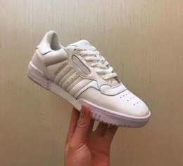Wholesale 2017 Kanye West Calabasas Powerphase Calabasas CQ1693 Men Women Sneakers leather upper with lateral Calabasas Outdoor White Shoes