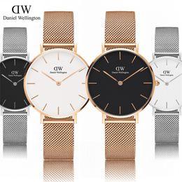Wholesale Black White Strips - New Fashion Wellington watches Steel strip 32mm women watches Luxury Brand Famous Quartz Watch Relogio leather Montre Femme Wristwatches