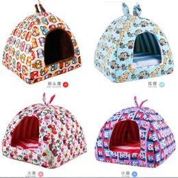 Wholesale Large Pet Tent - Dog Bed House Winter Warm Pet Kitten Puppy Cat Dog Cushion Couch Basket Sofa Bed Mat Pad for small large dogs
