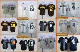 johnny manziel jerseys Promotion 2 Johnny Manziel Jersey Hommes San Diego Padres 19 Tony Gwynn 4 Bleu Myers Blanc Gris Bleu Cool Base Authentique Cousu Baseball Maillots