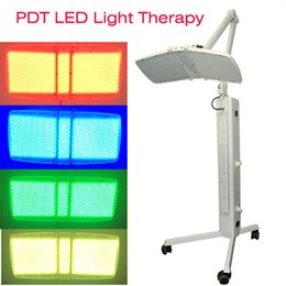 Wholesale Infrared Light Skin - New arrival 120mw High power Floor Standing Professional led pdt bio-light therapy machine Red light +Blue light + Infrared light therapy