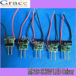 Wholesale Transformer For Mr16 Lamp 12v - 10pcs 3X3W LED MR16 driver, 3*3W transformer power supply for MR16 12V lamp, power 3pcs 3W LED high power lamp bead, Free ship
