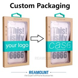 Wholesale Phone Box Sticker - Wholesal High Quality Kraft Paper Packaging Box for Phone Case with Sticker for iPhone 5 6 7 7 plus