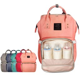 Wholesale Brand Maternity - Wholesale- Diaper Bags Stroller Brand Large Capacity Baby Nappy Bag Mummy Travel Backpacks Desiger Baby Care Nursing Bag for Mum Maternity
