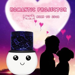 Wholesale Kids Star Projector - Kids Bed Lamp Projector Light Romantic New Rotating Star Moon Sky Rotation Night Adorable colorful Nightlight white LED lamp
