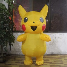 Wholesale Funny Activities - New Sale Pikachu Inflatable Costume Halloween Christmas Party Funny Inflatable Costume For Adult Party Activities Props Costumes