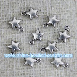 Wholesale Metal Beads For Shamballa Bracelets - cheap wholesale shamballa jewelry bracelet pendants 300pcs 6.5MM star metal beads for jewelry making