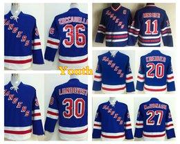 Wholesale Boys New York - Youth New York Rangers 30 Henrik Lundqvist 36 Mats Zuccarello Ryan McDonagh 20 Kreider Hockey Jerseys Kids Throwback 11 Mark Messier Jersey