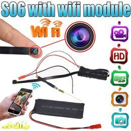 Wholesale Digital Wireless Portable Video Camera - 32GB HD 1080P Mini Super Small Portable Hidden Spy Camera P2P Wireless WiFi Digital Video Recorder for IOS Android Phone APP Remote View S06