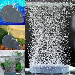 Wholesale Fish Tank Aerator - 4pcs lot Aquarium Fish Tank Pond Pump Air Bubble Disk Stone Aerator Hydroponic Oxygen 4 Size Style Mixed FSBL0002*4