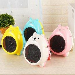 Wholesale Personal Electric Fans - 4 Colors Mini Electric Heaters Warm Air Blower Personal Heater Cartoon Bear Miniature Fan Heater Home Office Supplies CCA7745 200pcs