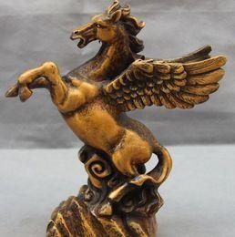 Wholesale Pegasus Bronze - Chinese Bronze Copper Sculpture Home Decoration Auspicious Pegasus Horse Statue