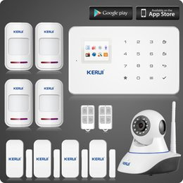 Wholesale Gsm Camera Alarm Systems - LS111- Wireless wifi ip camera+KERUI G18 gsm home alarm system +magnetic+motion detector burglar sucerity alarm kit Two-year warranty